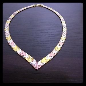 Jewelry - ❤️ Day 🎁! Rose, Yellow, White 925 Silver necklace